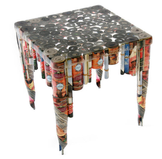 8 unique tables made from recycled material mattermore for Things to make out of recycled stuff